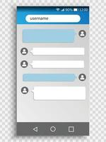 phone chat interface. Sms messages. Screen of smartphone. vector