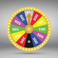 Colorful wheel of fortune or luck. Vector illustration.