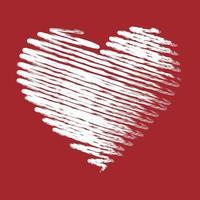 grunge heart, Valentine day, illustration vintage design element vector