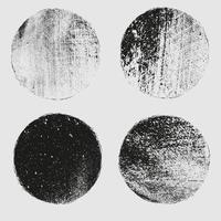 Grunge post Stamps Collection, Circles. Banners, vector