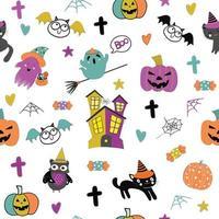 Cute halloween pattern seamless pattern vector