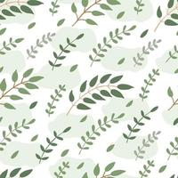 Spring seamless pattern with tree branches and green stains vector