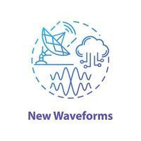 New waveforms concept icon vector