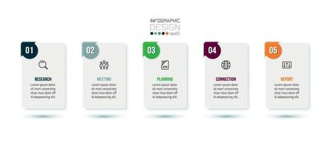 Business infographic  template with step or option design. vector