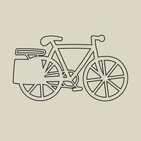 Doodle freehand sketch drawing of a bicycle flat design. vector