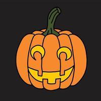 Simplicity halloween pumpkin freehand drawing flat design. vector