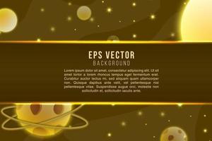 Dark brown galaxy stars text background shiny cosmic glow effect vector
