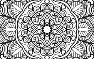 Doodle zen design mandala colouring book pages illustration vector