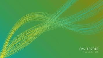 Green gradient lines abstract background with out line art vector