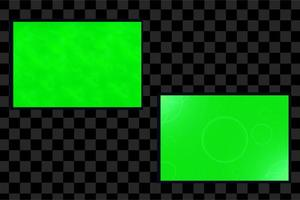 Set of green halftone abstract background with gradient style vector