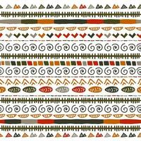 Ikat geometric stripe pattern. Tribal ethnic theme vector