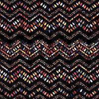 Ikat geometric zigzag pattern. Tribal ethnic theme vector