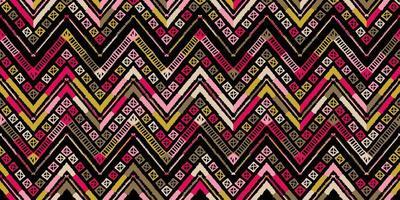 Retro zigzag african style pattern. Chevron design vector