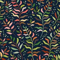 Tropical jungle seamless floral pattern. Vector illustration