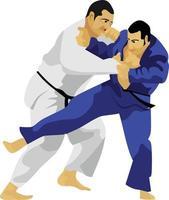 judo japón artes marciales tradicionales vector