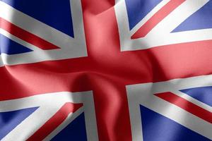 3D rendering illustration flag of United Kingdom. photo