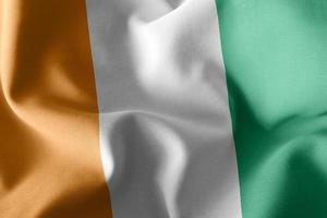 3D rendering illustration flag of Ivory Coast. photo