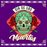 Decorative Skull Head Day of the Dead Mexico Illustration vector