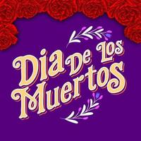 Decorative Lettering Day of the Dead Mexico Illustration vector