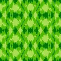 Green ethnic seamless pattern vector