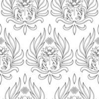 Buddhism Symbols Seamless Pattern vector