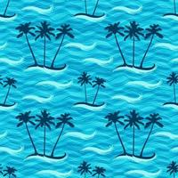 Tropical Island Seamless Pattern vector