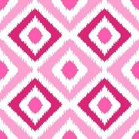 Ethnic pink squared seamless pattern vector