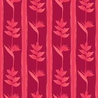 Pink Tropic Flowers Seamless Pattern vector