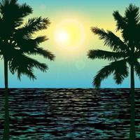 Tropical Day on Beach vector