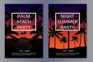 Tropic Night Posters vector