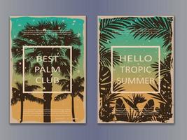 Tropic Vintage Posters vector