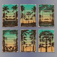 Tropic Vintage Posters Set vector