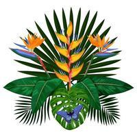 Tropical Bouquet Composition vector