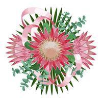 Tropical Wedding Bouquet vector