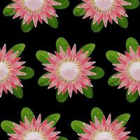 Protea Seamless Pattern vector