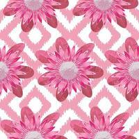 Pink Protea Boho Seamless Pattern vector