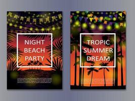 Tropic Posters Mock Up vector