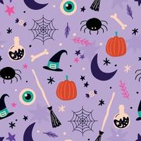fondo de halloween. patrón de halloween. diseño de halloween vector