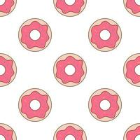 Sprinkled Donuts Seamless Repeat Vector Pattern