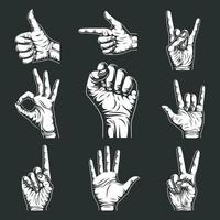 Hand Signs And Gestures Collection Vector Graphic