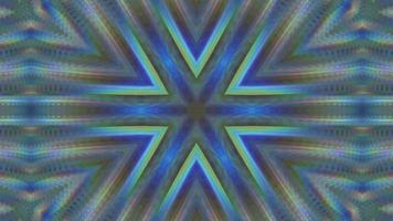 Abstract multicolored symmetrical kaleidoscope background video