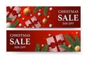 Christmas emblem with price stickers vector