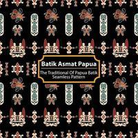 Batik Asmat Papua - The Traditional Of Asmat Papua Batik vector