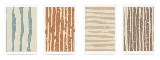 Trendy set of abstract aesthetic creative minimalist artistic vector