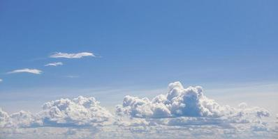 Beautiful natural scenery of clouds in the sky photo