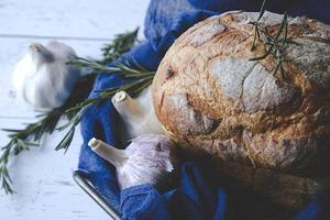 Fragrant bread menu. Delicious to eat photo