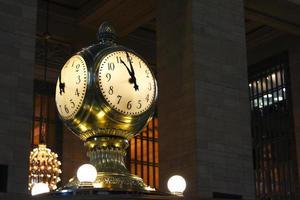 Beautiful clock tower at night photo
