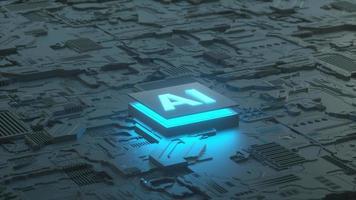 kretskort och ai -mikroprocessor, koncept för artificiell intelligens video