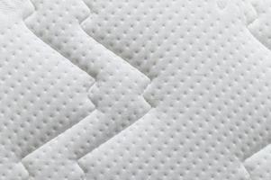 Closeup of white mattress texture background photo