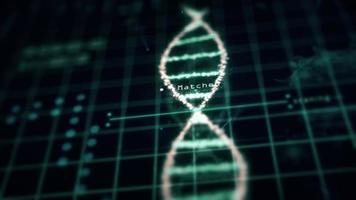 Medical tech spiral DNA Chromosome laboratory virus analysis photo